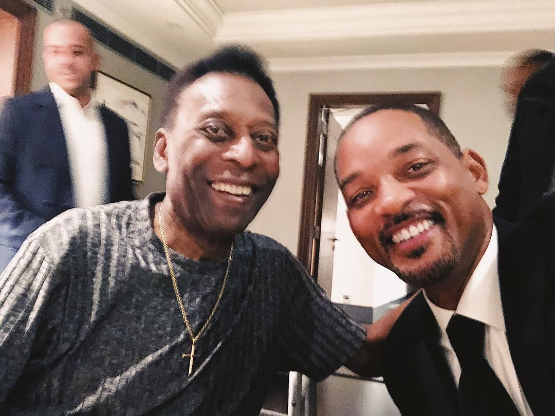 Will Smith Instagram: Ran into  before a dinner, he told me I needed to do 25 touches before I eat and...
