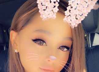 Ariana Grande Instagram: this filter took my eyebrows away but i promise they're there...