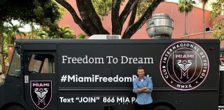 David Beckham Instagram: City of Miami residents making their voices heard at voting precincts.    .. Pro...