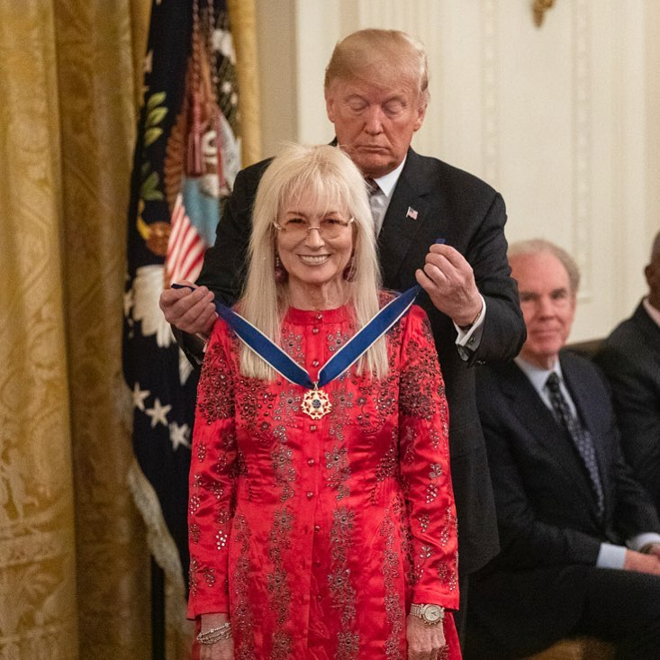 Donald J. Trump Instagram: President Donald J. Trump presents the Medal of Freedom to Miriam Adelson Friday...