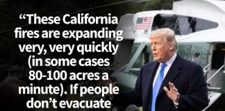 Donald J. Trump Instagram: These California fires are expanding very, very quickly (in some cases 80-100 ac...