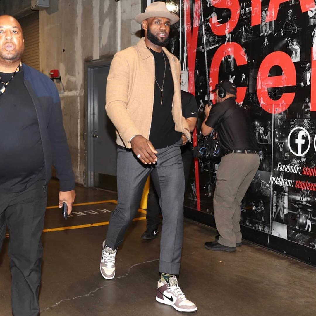 59925a23ce01 LeBron James Instagram  Game day stroll wit my woe That boi got that ...