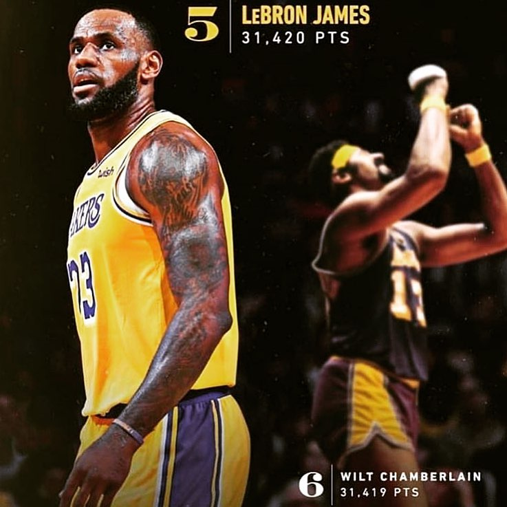 LeBron James Instagram: Top 5 Top 5 Top 5!! All praise to the man above and shout out WILT too above as ...