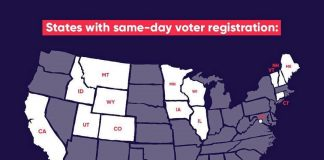 Leonardo DiCaprio Instagram:    Spread the word: voters in these states have the opportunity to register in p...