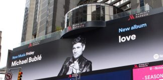 Michael Bublé Instagram: Michael's new album  on display in New York City's Times Square yesterday thanks...
