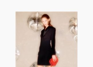 Victoria Beckham Instagram: The VB tuxedo dress - a sleek and modern take on evening wear. Wear it with the ...