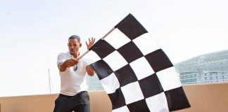 Will Smith Instagram: Epic day at  Abu Dhabi! I got to roll the checkered flag and my boy  walked away...