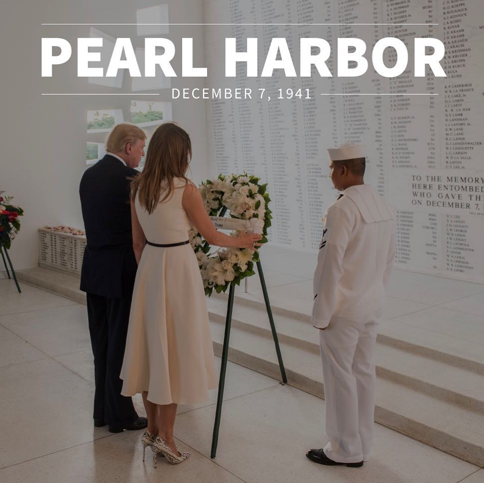 Donald J. Trump Instagram: Today, we honor those who perished 77 years ago at Pearl Harbor, and we salute ...
