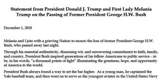 Donald J. Trump Instagram: Statement from President Donald J. Trump and First Lady Melania Trump on the Pas...