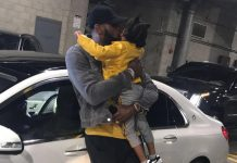 LeBron James Instagram: The best part about a post game win! Being smothered by Daddy's lil Princess!! A...