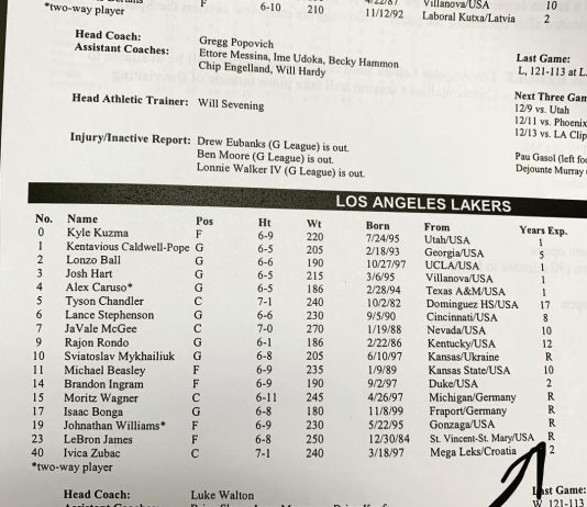 LeBron James Instagram: Tonight's game notes here in San Antonio. Am I?!?!? Why does it seem like I know...