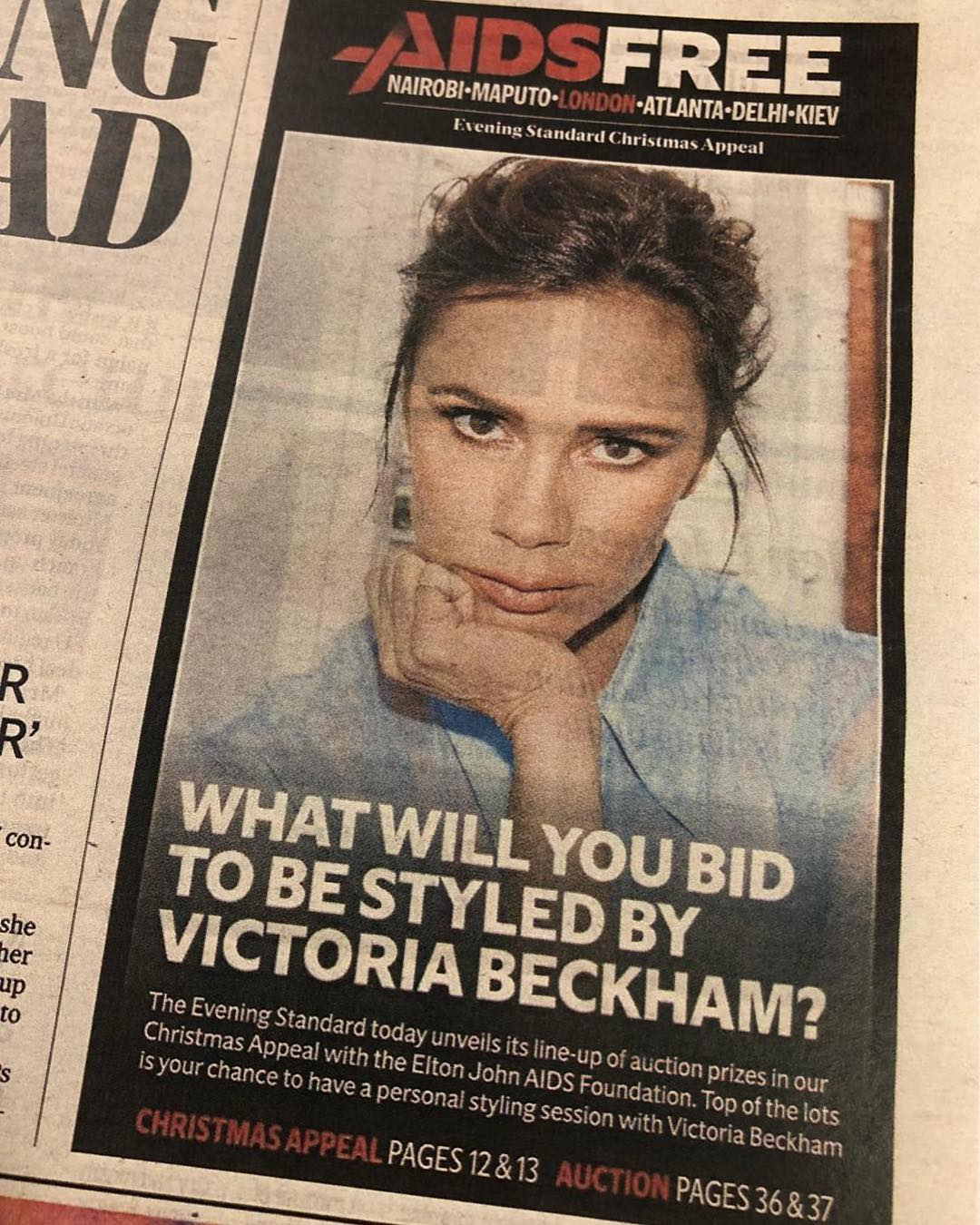 Victoria Beckham Instagram: Happy to support my friend    with the  Christmas appeal campaign for an  future...