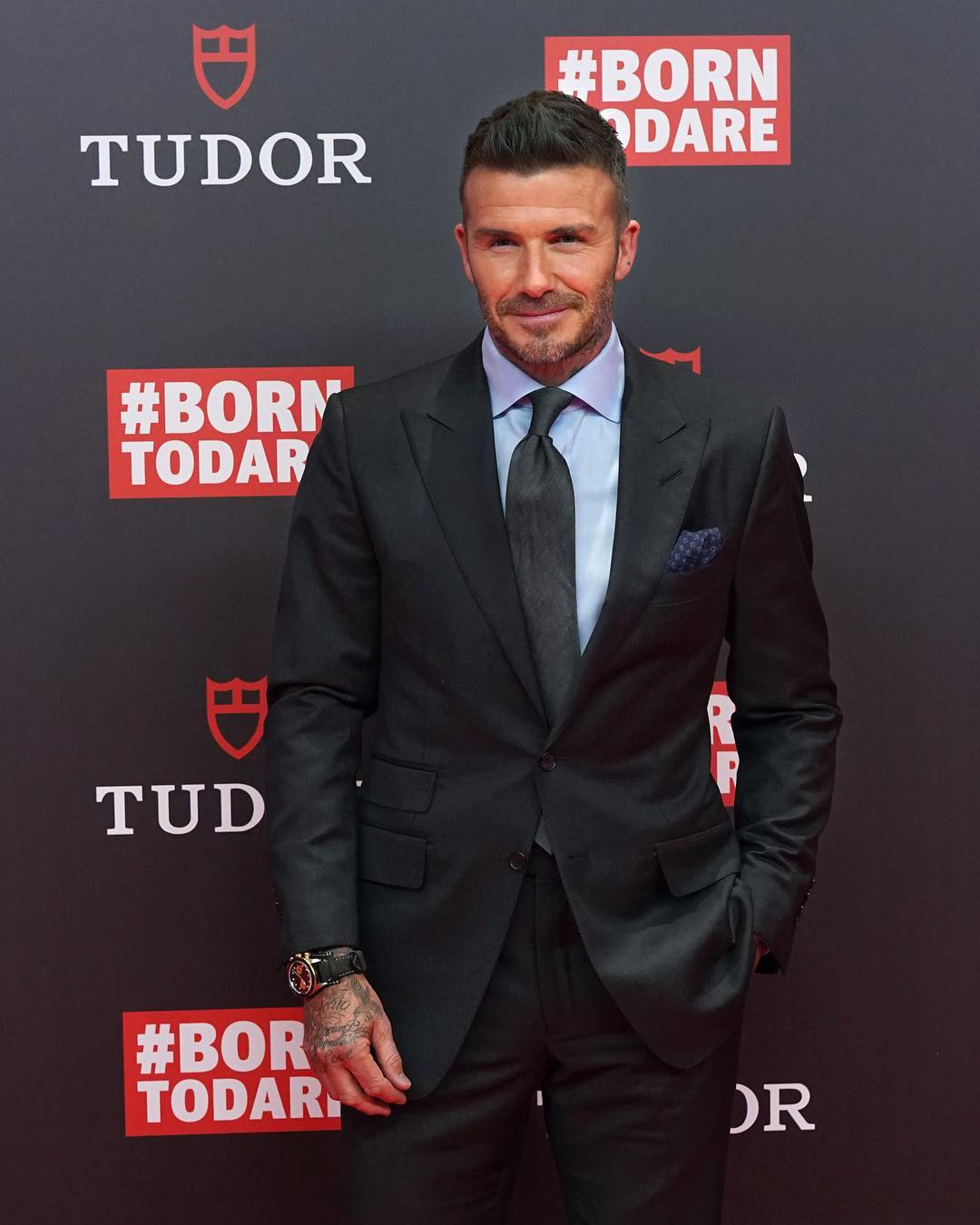 David Beckham Instagram: Great evening in Madrid tonight with my friends at  Always love being back in th...