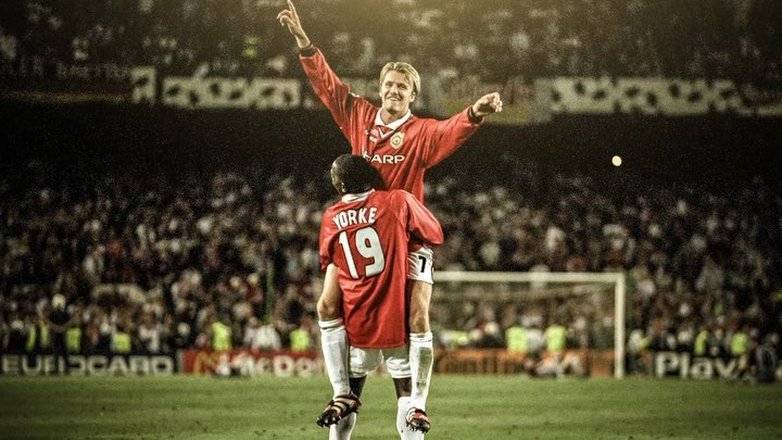David Beckham Instagram: Only one month to go until the  reunion match at Old Trafford. I'm so excited to...