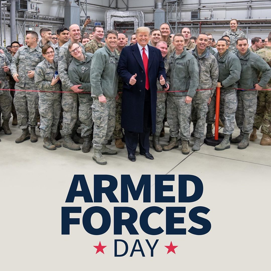 Donald J. Trump Instagram: ‪Our courageous and vigilant Armed Forces safeguard the blessings of liberty for...