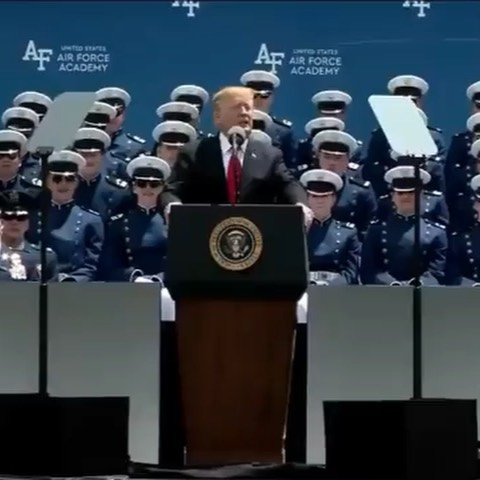 Donald J. Trump Instagram:   ・・・ Thank you to all of the brave men and women graduating from the United Sta...