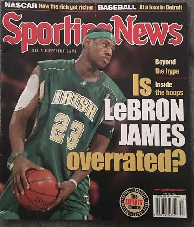 LeBron James Instagram: Today's date in 2003......... ...