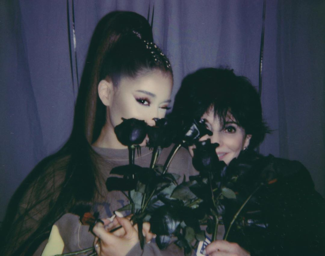 Ariana Grande Instagram: the real life wednesday and morticia...