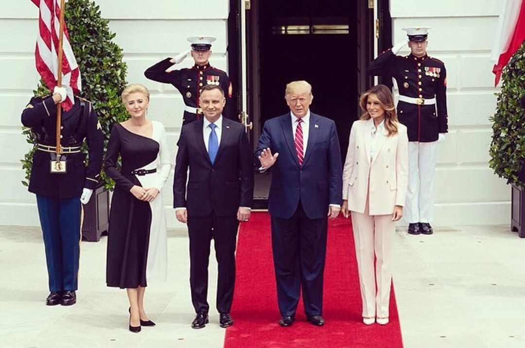 Donald J. Trump Instagram:   ・・・ Great to welcome back President Duda & Mrs. Kornhauser-Duda of Poland at t...