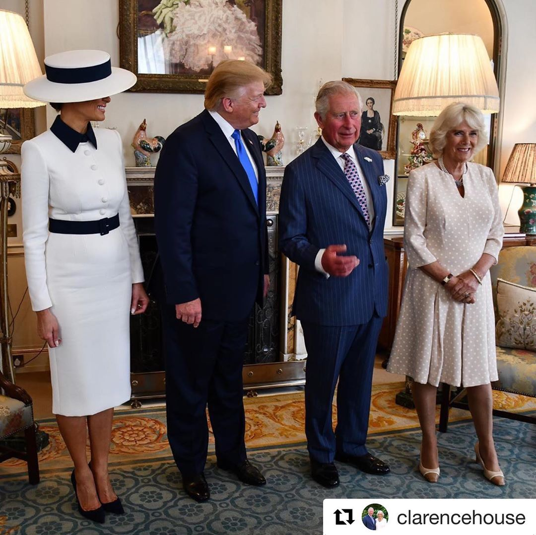 Donald J. Trump Instagram:   ・・・ President Trump  and the First Lady Melania Trump joined The Prince of Wal...