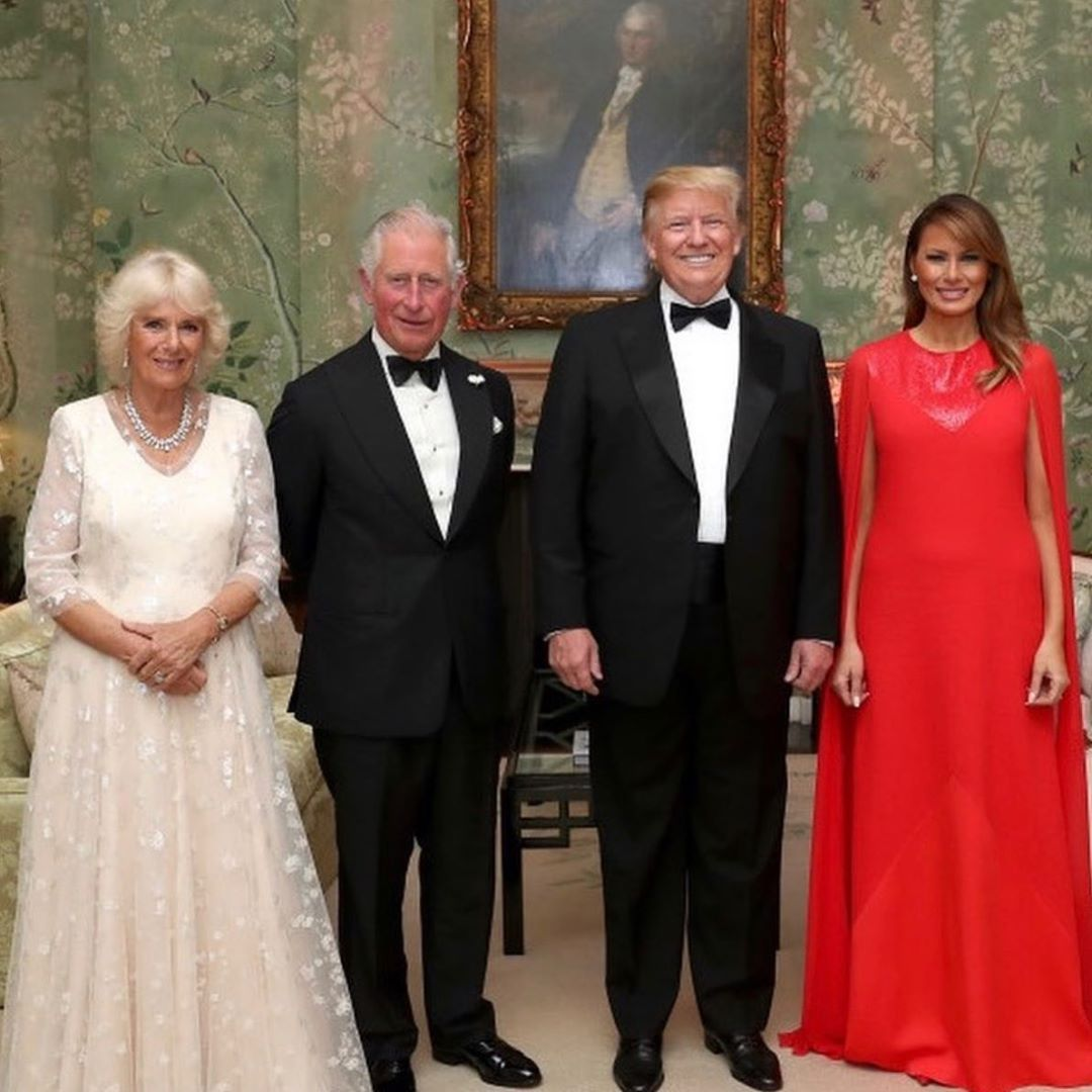 Donald J. Trump Instagram: Beautiful evening with The Prince of Wales and The Duchess of Cornwall at the hi...