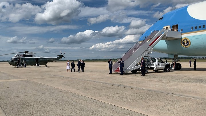 Donald J. Trump Instagram: Departing for   with  Melania!   ...
