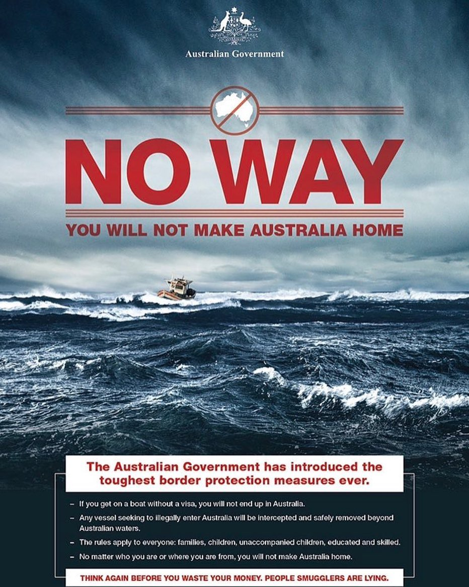 Donald J. Trump Instagram: Flyers like this depict Australia's policy on Illegal Immigration. Much can be l...