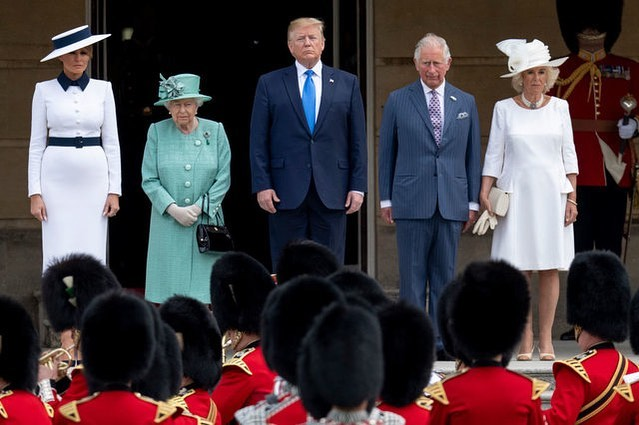 Donald J. Trump Instagram: Queen Elizabeth II with Prince Charles, Prince of Wales and Camilla, Duchess of ...