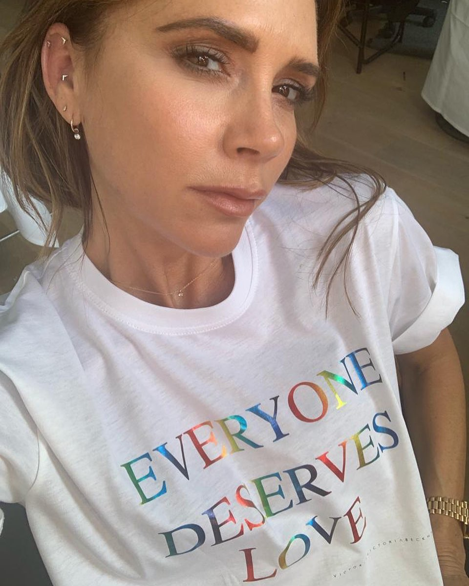 Victoria Beckham Instagram: Celebrating  In commemoration of the 50th anniversary of the Stonewall uprising,...