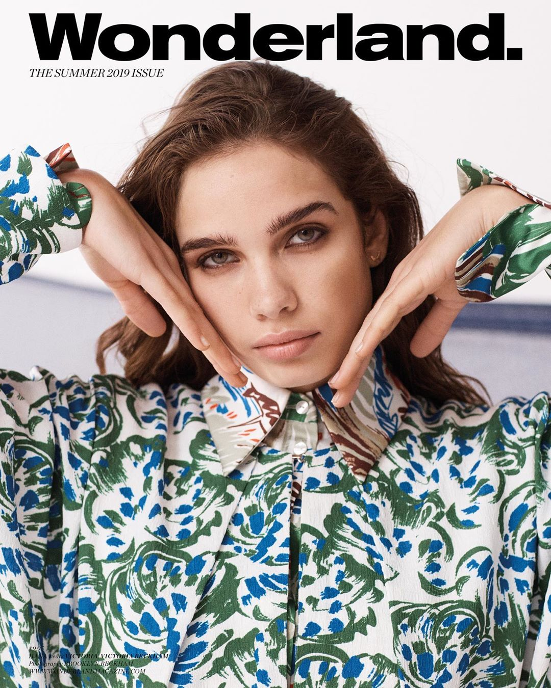 Victoria Beckham Instagram:  in the abstract floral print from  on the cover of  shot by  x VB...