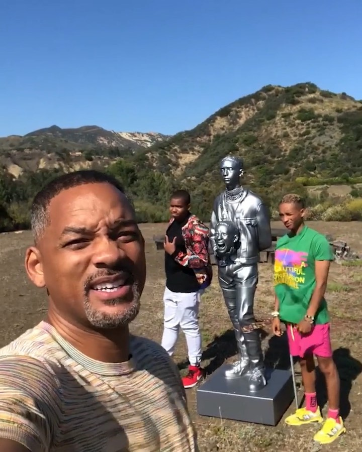 Will Smith Instagram: This jokas father's day present for me was a statue of him. How thoughtful, ...