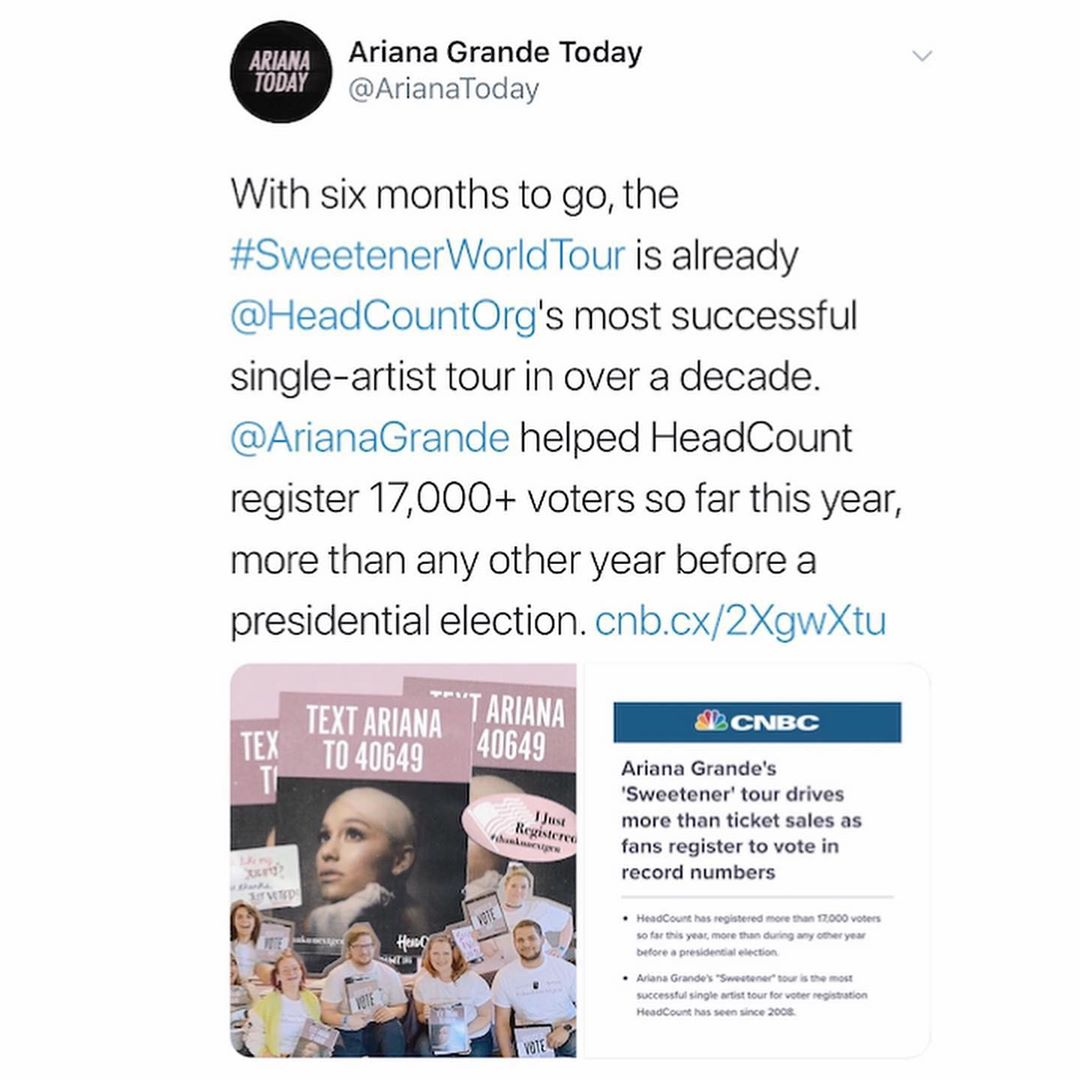 Ariana Grande Instagram: this is so exciting! thank you so much to everybody who's been heading to the bo...
