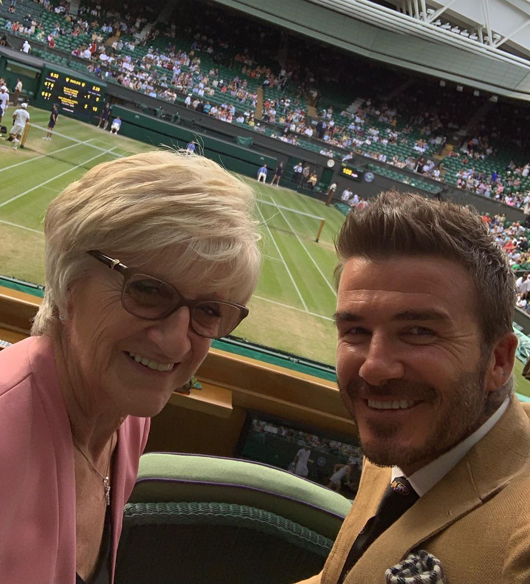David Beckham Instagram: Fun day at Wimbledon  with mum..     ...