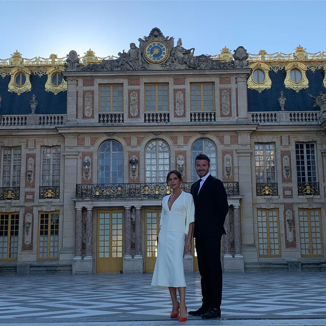 David Beckham Instagram: Most amazing visit to Le Château de Versailles on a very special day.. Thank you...