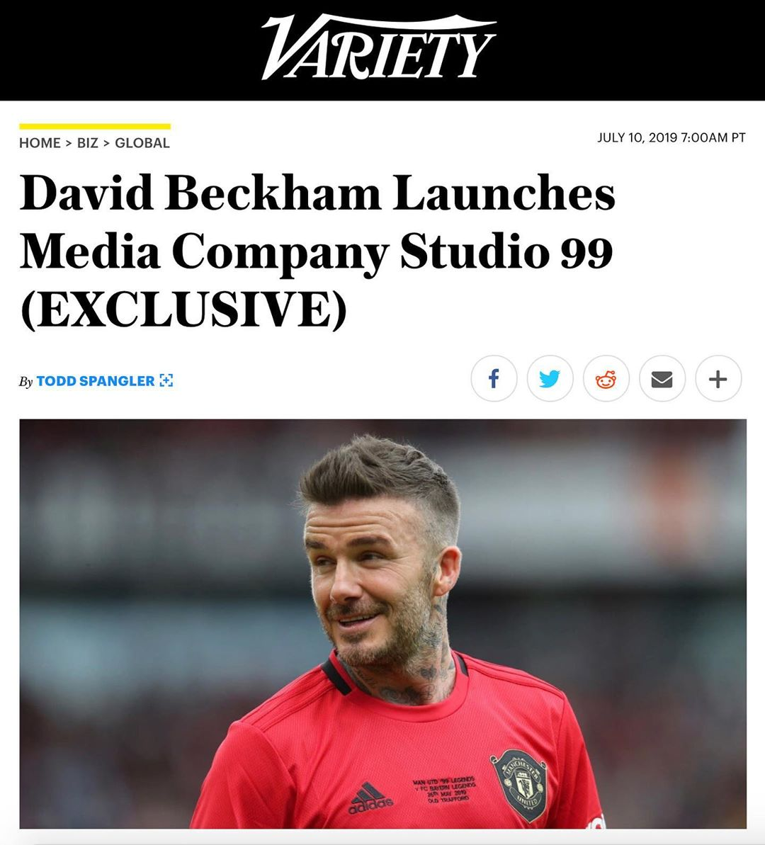 David Beckham Instagram: Really exciting times ahead! ...