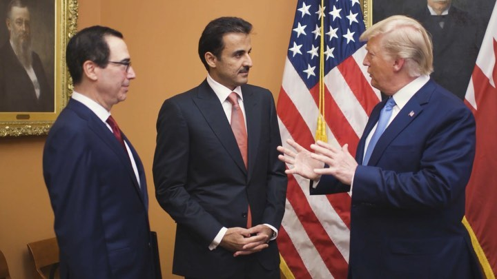 Donald J. Trump Instagram: After a wonderful dinner at the US Treasury last night with the Amir of Qatar, ...