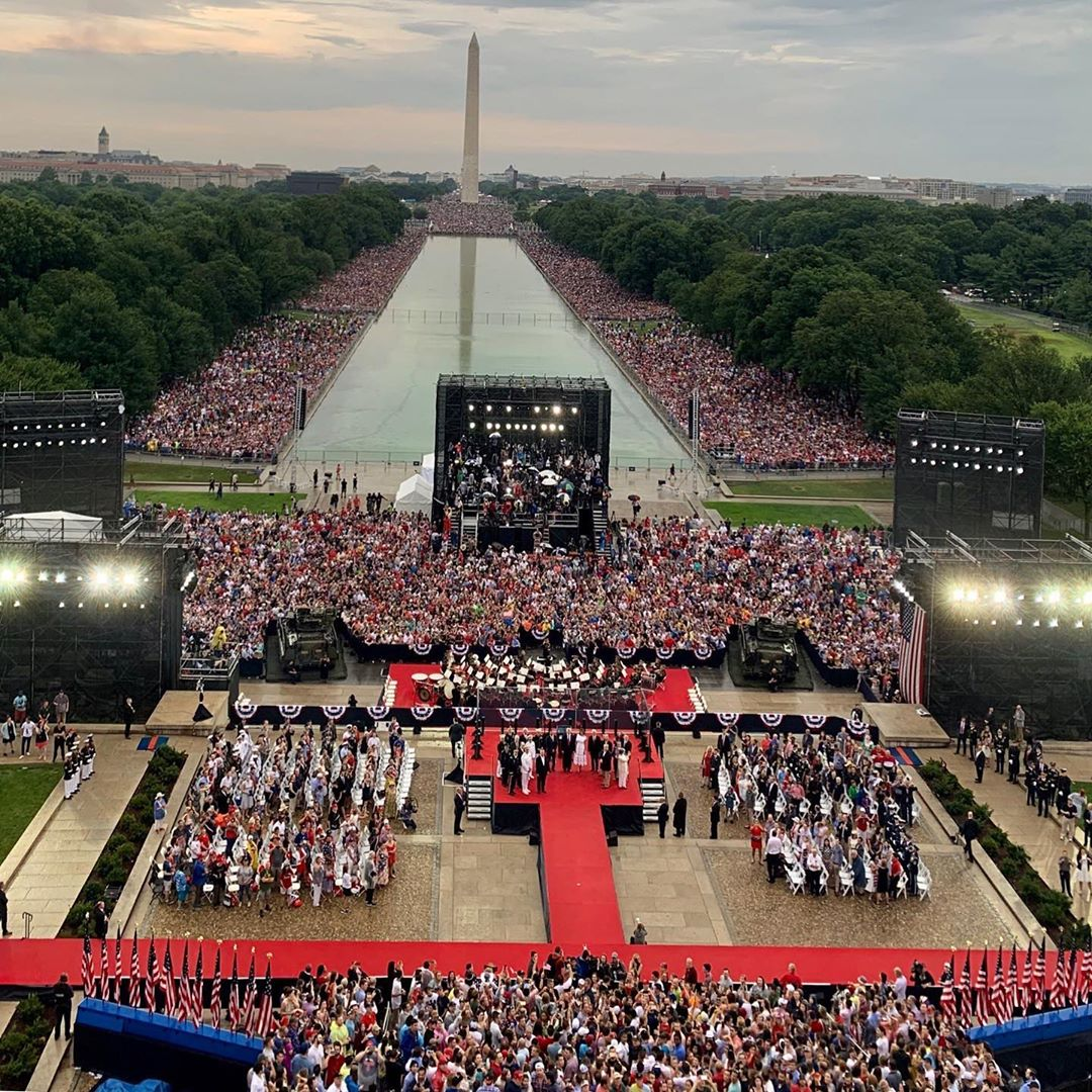 Donald J. Trump Instagram: A great crowd of tremendous Patriots this evening, all the way back to the Washi...