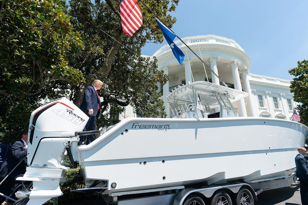 Donald J. Trump Instagram: Manufactures show their products on the South Lawn of the White House, Monday, J...