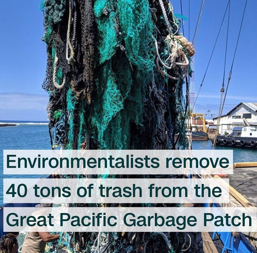 Leonardo DiCaprio Instagram:    Environmentalists have removed more than 40 tons of plastic from the Pacific ...
