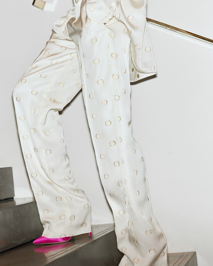 Victoria Beckham Instagram: My  pyjama suit is perfect for the plane, the party and the bedroom. x VB...