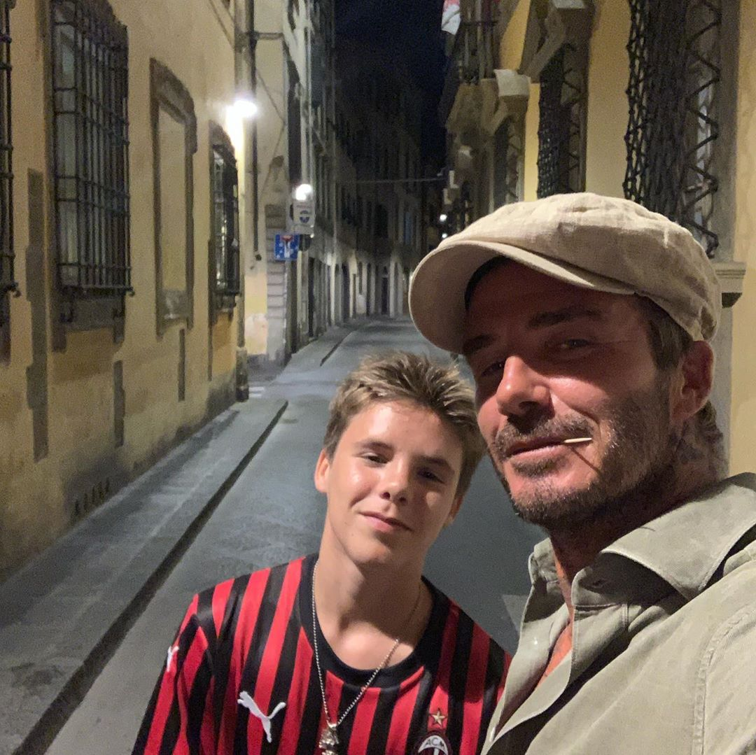 David Beckham Instagram: The Boys in Florence   ...