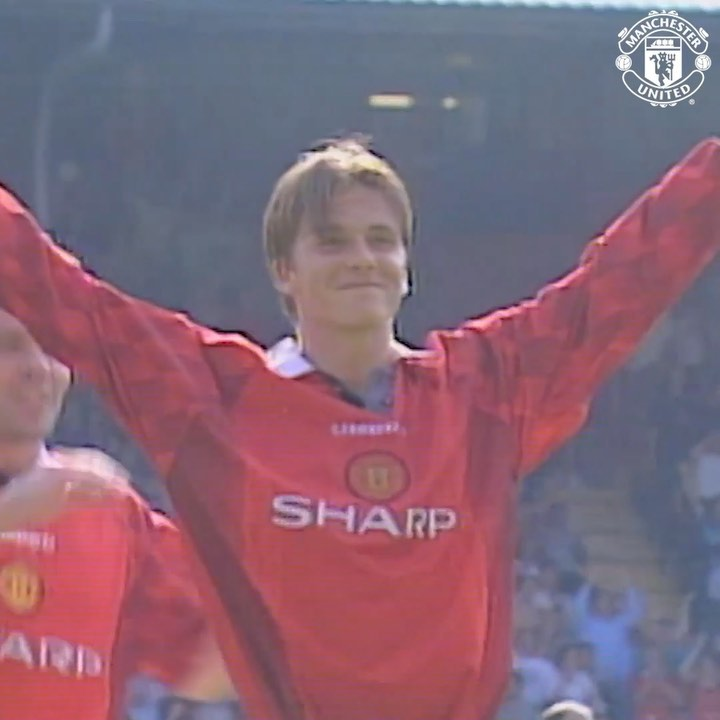 David Beckham Instagram: Wow Can't believe this was 23 years ago today!!!! So glad it hit the back of the...