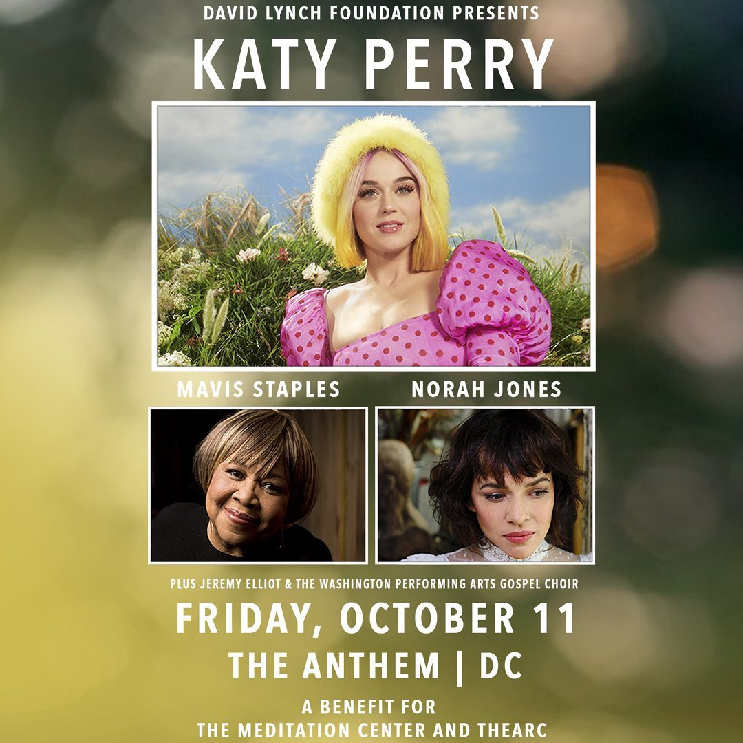 Katy Perry Instagram: On October 11th, I'll be in DC for a special  acoustic  set for the  Benefit Con...