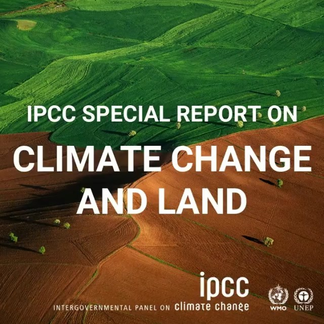 Leonardo DiCaprio Instagram:    IPCC Special Report on Climate Change and Land: Land is under growing human p...