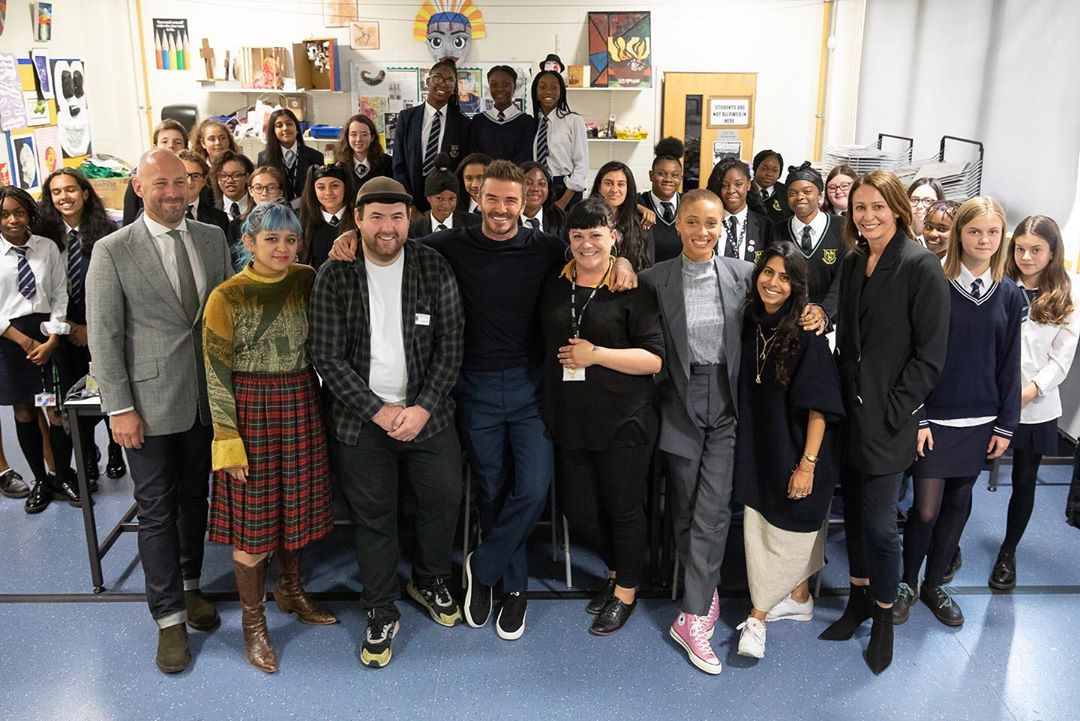 David Beckham Instagram: Such an inspiring morning with  and  launching the Fashion Studio Apprenticeship...