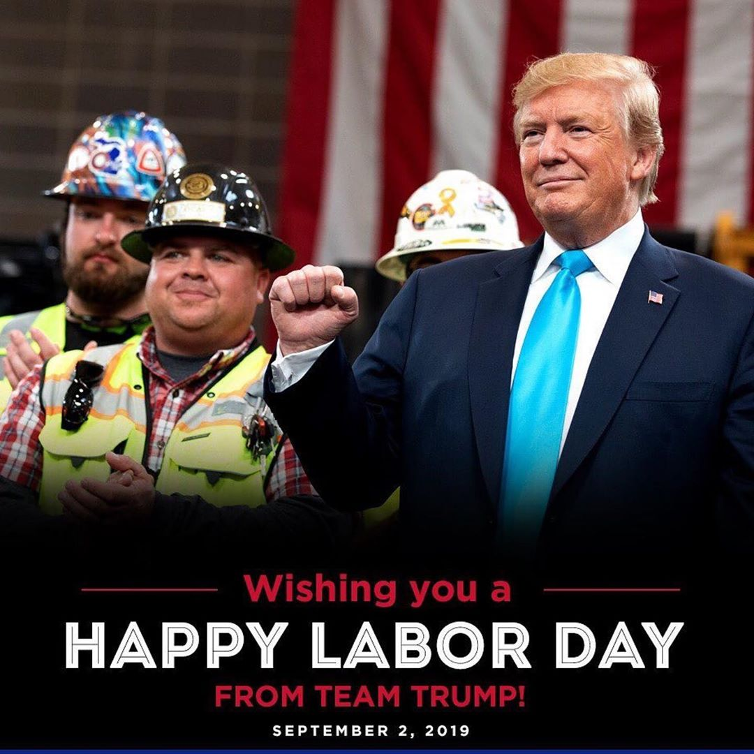 Donald J. Trump Instagram:   ・・・ ‪Today, we recognize the hard working Americans who are part of the GREATE...