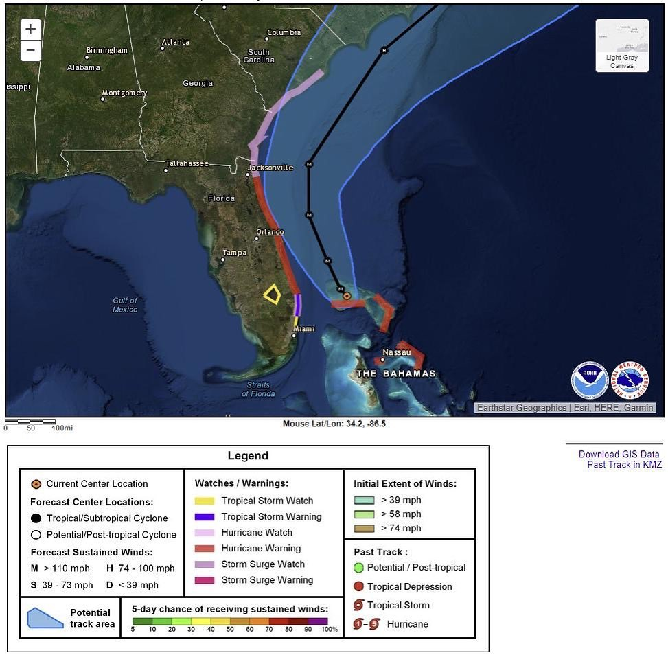 Donald J. Trump Instagram: Current hurricane wind watches and warnings in effect for  as of 11 PM September...