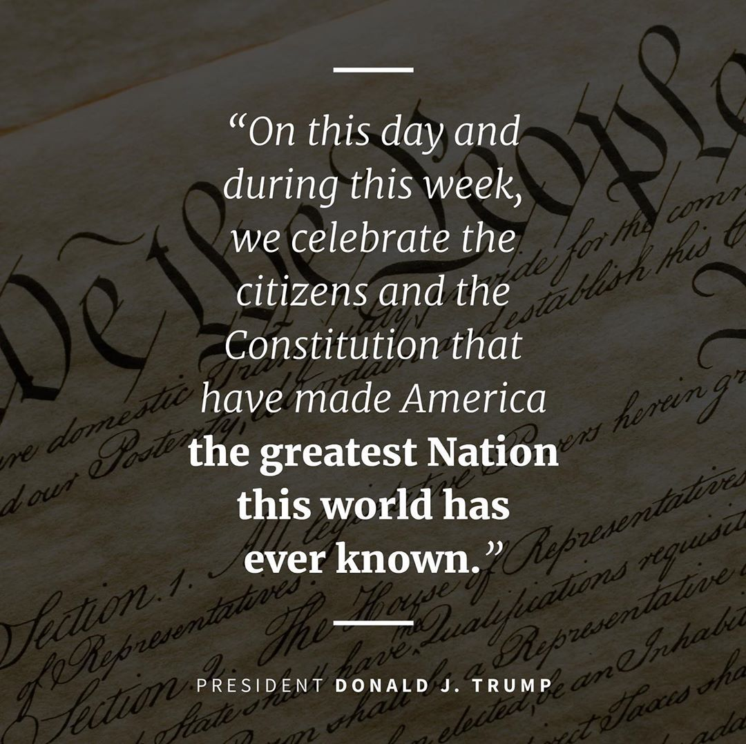 Donald J. Trump Instagram: John Adams called the drafting of the Constitution—the bedrock of the rule of la...