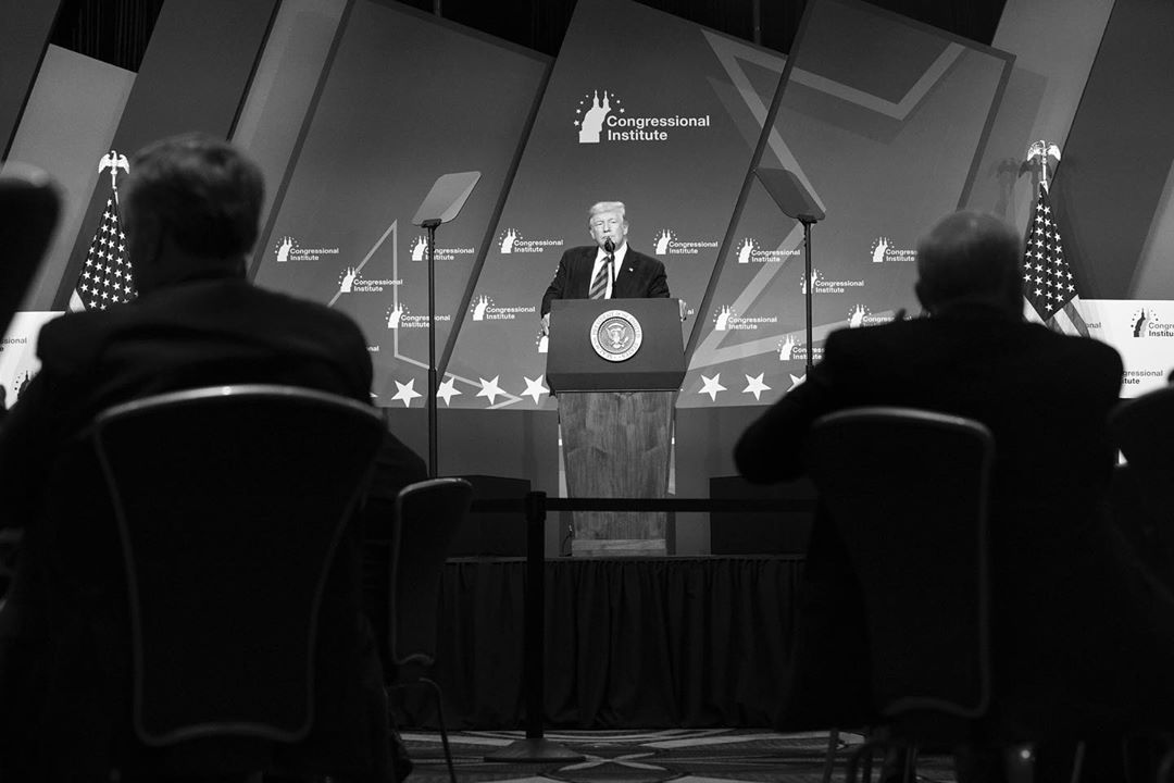Donald J. Trump Instagram: President Donald J. Trump delivers his remarks at the 2019 House Republican Conf...