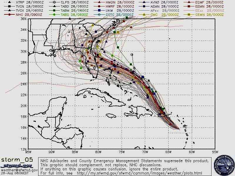 Donald J. Trump Instagram: This was the originally projected path of the Hurricane in its early stages. As ...
